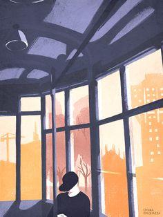 Chiara Ghigliazza - Sunday Morning #milano #conceptual #illustration #tram #poster http://cargocollective.com/chiaraghigliazza