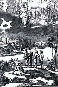 April 8, 1665, Stralsund, Germany. Aerial ships and a saucer-shaped object with dome were reported flying over the church of this town located near the Baltic Sea, and hovered there till evening. Witnesses were left trembling, with pain in their head and limbs. The case is described in researcher Illobrand Von Ludwiger's book Best UFO Cases – Europe published by the National Institute for Discovery Science in 1998.