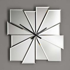 Mirrored Wall Clock hotel room design in hard rock hotel biloxi. #hardrock | hard rock