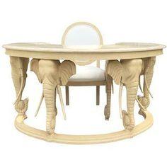 Vintage Casa Bique Elephant Desk & Chair.   $1700
