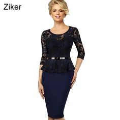 New 2017 Fashion Brand Spring Lace Pencil Dress Women Slim Bodycon Butterfly Waist Dress Knee Length Casual Work Dress