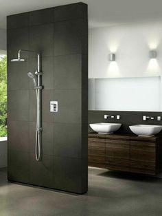 schwarze duschabtrennung im kleinen bad mit dusche - 21 eigenartige Ideen – Bad mit Dusche ultramodern ausstatten