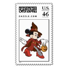 Halloween Minnie Mouse Witch Stamp