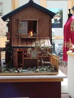 right side shot of japanese dollhouse