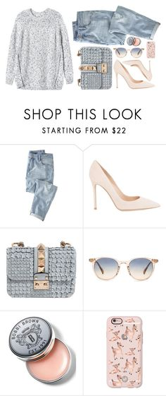 """""""Untitled #636"""" by kenbou1003 ❤ liked on Polyvore featuring Wrap, Gianvito Rossi, Valentino, Oliver Peoples, Bobbi Brown Cosmetics, Casetify and Rebecca Taylor"""