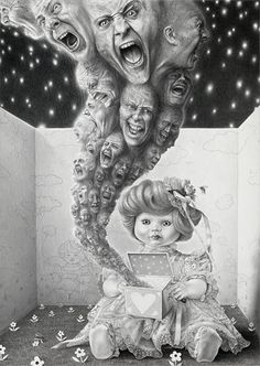 Laurie Lipton. Another more subtle piece of work. Most of it is pretty disturbing artwork, but it's amazing. **Official Site: http://www.laurielipton.com/