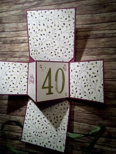 Popup Panel Card im Himbeerrot, Olivgrün, Zarte Pflaume, Flüsterweiß und DSP, mit So viele Jahre, Spiralblüte und Rosenzauber