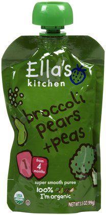 Ella's Kitchen Broccoli, Pears & Peas - 7 pk - Free Shipping
