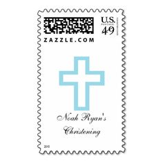 """""""Blue Cross"""" Postage Stamps are perfect for Christenings, First Communions, Confirmations, etc. Different sizes available to choose from. Other matching items available."""