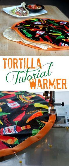 How Make a DIY Fabric Tortilla Warmer {Tutorial} | The Good Hearted Woman