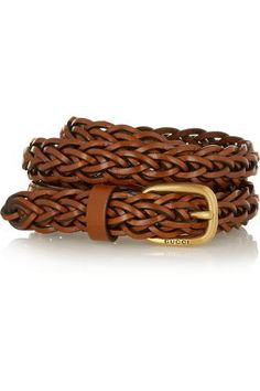 Braided leather belt #accessories #women #covetme #gucci