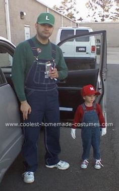 Homemade Mario and Luigi Costume... This website is the Pinterest of costumes