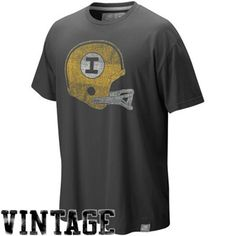 Nike Iowa Hawkeyes Black Football Vault Washed Organic Vintage T-shirt