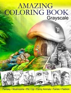 Amazing Coloring Book. Grayscale: For Grown-Ups, Adult Relaxation #Doesnotapply