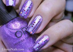 Nail Art - Purple Explosion