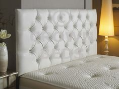 High Quality Amelia Diamante 5ft King Size Leather Headboard 62 Height And Bed Mattress