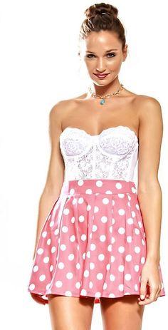 #shukunewyork.com         #Skirt                    #POLKA #SKIRT #CORAL      POLKA DOT SKIRT - CORAL                             http://www.seapai.com/product.aspx?PID=1029020