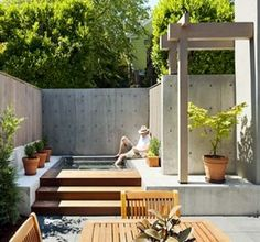 Fantastic minimalist outdoor space. Love a plunge pool!!