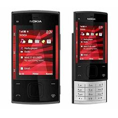 Nokia X3-00 Slider Black/Red Unlocked Mobile Phone Camera 3.2MP - http://www.computerlaptoprepairsyork.co.uk/mobile-phones/nokia-x3-00-slider-blackred-unlocked-mobile-phone-camera-3-2mp