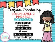 Progress Monitoring {Dolch Level 2 Phrases) Assessments, G Guided Reading Activities, Sight Word Activities, Back To School Activities, Literacy Activities, Teaching Sight Words, Dolch Sight Words, Reading Intervention, Reading Skills, Motivational Activities