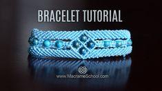 Macramé Window Bracelet Tutorial by Macrame School