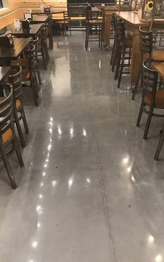 polished concrete commercial restaurant advance industrial coatings