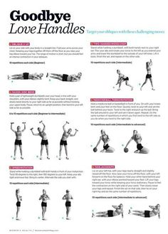 Goodbye Love Handles Workout