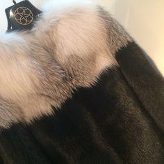 Foxy our latest fox jacket to keep warm during #PFW #fox #originassured @saks @barneysnyofficial @harrods