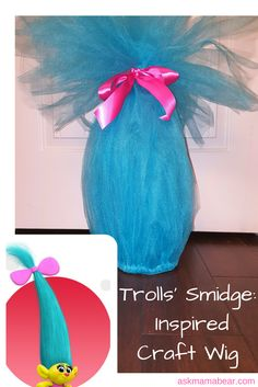 askmamabear.com  This budget-friendly craft wig was inspired by the movie Trolls. Learn how to make your own troll wig with this easy tutorial. :-)