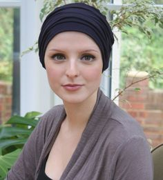 Black beanie - pretty womens headwear for hair loss, chemotherapy and cancer