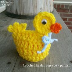 Crochet easter egg DUCK cozy fun seasonal & by MalindasDesigns