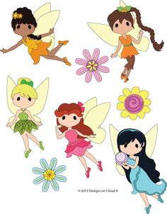 Fairy Friends, made to order, premade paper piecing, scrapbook page, album, border paper piecing, Disney, girls, fairies, tinkerbell on Etsy, $19.99