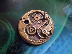 Antiqued Bronze Steampunk Watch Movement Casting charm