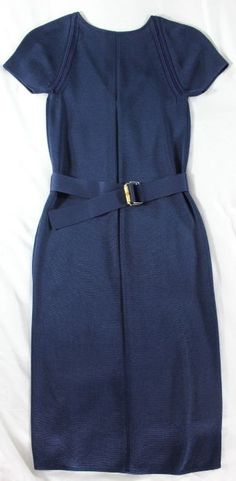 "~~~ HOW FABULOUS IS THIS BABY ~~~ GUCCI ""SILK INSET"" BELTED SHEATH DRESS ~ XS/S #Gucci #Sheath #Cocktail"