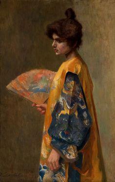 Violet Oakley - Dame avec éventail,1895