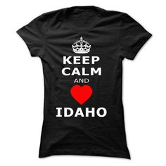 KEEP CALM AND LOVE IDAHO - #gifts for girl friends #personalized gift. LIMITED AVAILABILITY => https://www.sunfrog.com/States/KEEP-CALM-AND-LOVE-IDAHO-Ladies.html?68278