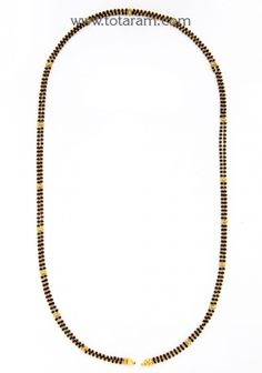 Mangalsutra Chain in 22K Gold of Length 24.0 inches: Totaram Jewelers: Buy Indian Gold jewelry & 18K Diamond jewelry