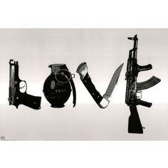 Steez Urban Art Love Gun Knife Hip Hop X Poster St4702