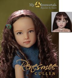 """Renesmee Cullen repainted from the lovely Helen Kish """"Piper"""""""