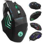 JWFY USB Wired Gaming Mouse Seven Buttons Support 5500DPI Resolution with LED