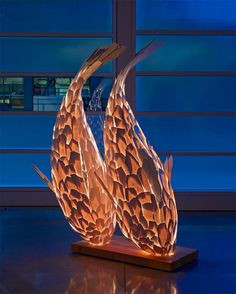 Architect Frank Gehry has designed the collection of lamps representing fish moving!