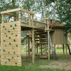 Climbing Walls for treehouses, adventures, fun and gardens - Can you imagine the sense of achievement when you look back down and realize th...
