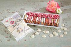 Bretzels enrobés de bonbons pour la Saint-Valentin