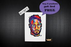 DE LA SOUL Kelvin Mercer rap poster. Unique gift for hip hop