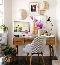a chic, relaxing workspace.