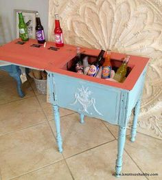 This Old Sewing Table Was About To Get Trashed Until She Got A BRILLIANT Idea…