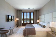 the bedroom - Can Siurell Villa Interiors by Curve Interior Design