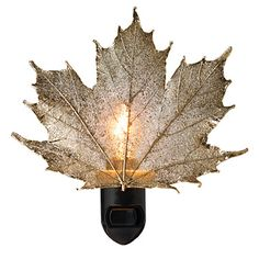 Real Sugar Maple Leaf Night Light | Night Light of Leaves Preserved in Precious Metal | UncommonGoods