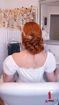 Thin Hair Updo, Hairdo For Long Hair, Bun Hairstyles For Long Hair, Bride Hairstyles, Short Thin Hair, Hair Upstyles, Front Hair Styles, Wedding Hair Inspiration, Hair Hacks