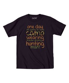 Loving this Black 'One Day' Tee - Toddler & Boys on #zulily! #zulilyfinds